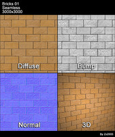 Bricks Seamless Texture 01