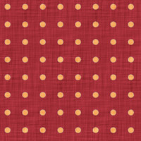Coordinated Cottons - Apricot on Red Polka-Dots