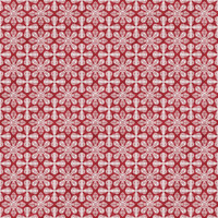 Coordinated Cottons - White on Red Damask