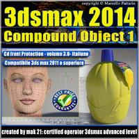 3dsmax 2014 Compound Object 1 vol 3.0 Italiano cd front