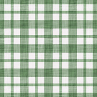 Coordinated Cottons - White on Green Plaid