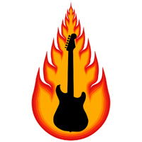 Vector Stock: Guitar & Fireball