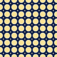 Coordinated Cottons - Yellow on Navy Modern Dots