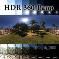 HDR 360 Pano Rio park8 beach fence