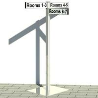 sign posts 3d model