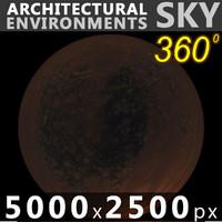 Sky 360 Sunset 001 5000x2500