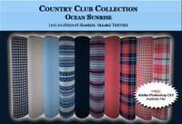 Country Club Twills - Ocean Sunrise