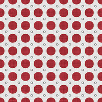 Coordinated Cottons - Red on White Modern Dots