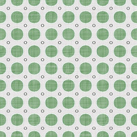 Coordinated Cottons - Green on White Modern Dots