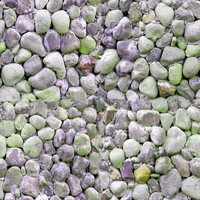Green and red pebble texture
