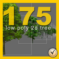 175 2d low polygon  trees