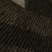 old wood roof tile