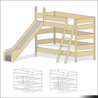 Loft Bed 01131se