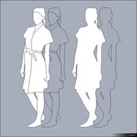 2D Character Woman 01457se