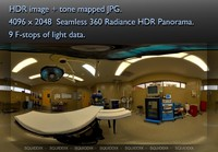 OPERATING ROOM WITH TABLE - LIGHTS ON - 360 HDR PANORAMA # 120