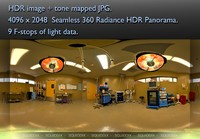 OPERATING ROOM WITH TABLE - LIGHTS ON - 360 HDR PANORAMA # 122