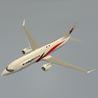 b 737-800 malaysia airlines 3d 3ds