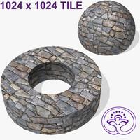Stone wall tile B