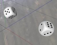 Dice drop animation physics