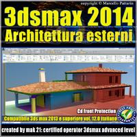 3ds max 2014 Architettura Esterni v.12 Italiano cd front