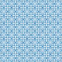 Coordinated Cottons - White on Blue Damask
