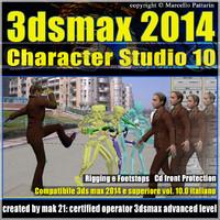 3ds max 2014 Character Studio v.10.0 Italiano cd front