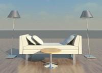 Love seat_Sofa bench