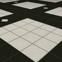 Tiled Marble Floor