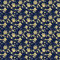 Coordinated Cottons - Yellow on Navy Floral