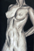Nude Charcoal Figure Drawing