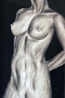 Nude Charcoal Figure Drawing