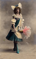 Old postcard Girl