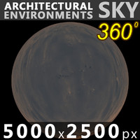 Sky 360 Clouded 001 5000x2500