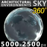 Sky 360 Clouded 003 5000x2500