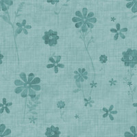 Fun with Florals - Teal Floral 2