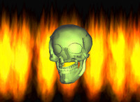 Animated Gif Of Skull With Fire