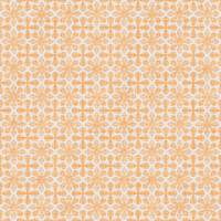 Coordinated Cottons - Apricot on White Damask