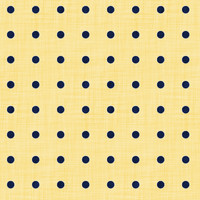 Coordinated Cottons - Navy on Yellow Polka-Dots