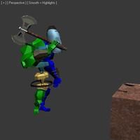 Man beating ax