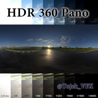 HDR 360 Pano racetrack sunrise03