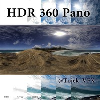 HDR 360 pano Rocks5 ocean Rio beach