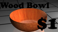 wood bowl 3ds