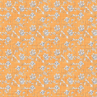 Coordinated Cottons - White on Apricot  Floral