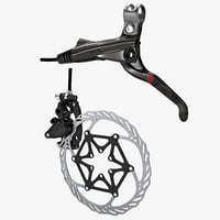3d model bicycle brake avid xx