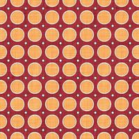 Coordinated Cottons - Apricot on Red Modern Dots