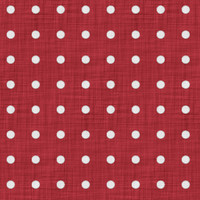 Coordinated Cottons - White on Red Polka-Dots