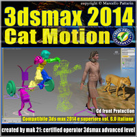 3ds max 2014 Cat Motion v.6.0 Italiano cd front