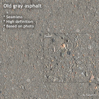 Old gray asphalt