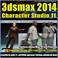 3ds max 2014 Character Studio v.11.0 Italiano cd front