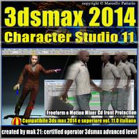 3ds max 2014 Character Studio v.11.0 Italiano cd front